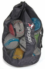 PRECISION TRAINING FOOTBALL BAG -  HOLDS UP TO 10 BALLS - BALL SACK FOOTY