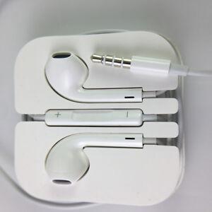 Original OEM Apple Earpods with 3.5mm headphone Plug + Volumn control Remote Mic