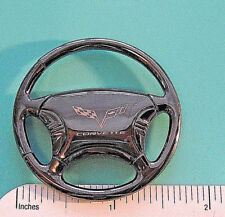 CORVETTE  (later)  logo  - STEERING WHEEL  keychain ORIGINAL BOX