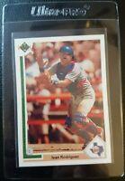 1991 UPPER DECK #55F IVAN RODRIGUEZ ROOKIE CARD RC TEXAS RANGERS GEM MINT