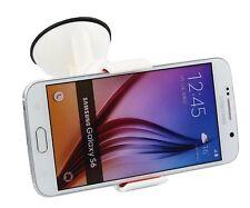 Supporto auto ventosa parabrezza pinze per Samsung Galaxy S6 / S6 EDGE + Bianco