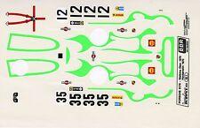 PORSCHE 917K MARTINI PSYCHEDELIC N°12/35 WATKINS GLEN/HOCKENEIM 1971 DECALS 1/43