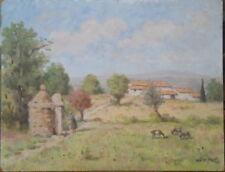 Gaston PROST (1881-1967) Huile/isorel Paysage aux environs de Vaison la Romaine