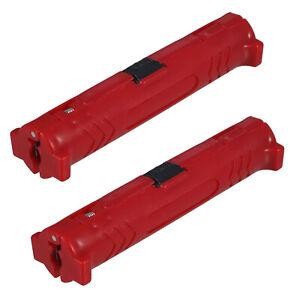 2x Abisolierwerkzeug Abisolierer Kabelmesser - Hilfe für Koaxial Koax SAT Kabel