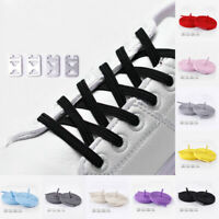 Adults Kids Stretch Elastic Lazy Loafer Buckle No Tie Shoelaces Flat Shoe Laces