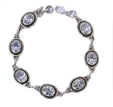 Sterling Silver 925 Bracelet with Cubic Zirconia