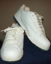Nike Golf Shoes Womens Vintage 1990's White w/ Green Trim Spike Size 9.5