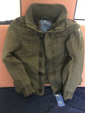 Men's Winter Military Jacket - Abercrombie & Fitch style . Size L - Real size M
