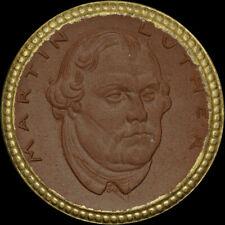"""NOTGELD: 1 Mark 1921, Porzellan - Rand Gold. """"MARTIN LUTHER"""" - STADT EISENACH."""