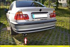 Chrom BMW 3er E46 Cabrio Coupe Auspuffblende Oval Form