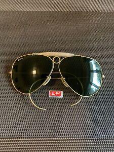 Ray Ban Sonnenbrille Shooter Gold Tru-Green mit Sportbügel 70er Vintage