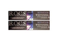 2x ROCS Sensation Whitening Zahncreme Zahnpasta r.o.c.s. 74g Zahnweiss