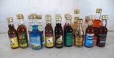 LOT ANCIENNES MIGNONNETTES / MINIATURES ALCOOL / MINI-FLASCHE / 10