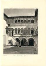 Stampa antica SONDRIO Casa Carbonera Valtellina 1934 Old antique print