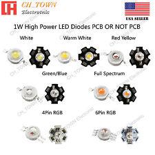 10pcs 1w High Power White Royal Blue Orange Rgb Led Chip Cob Lights 20mm Pcb