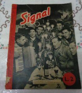 RIVISTA SIGNAL N°1 DEL 1°GENNAIO 1941 SECONDA GUERRA MONDIALE