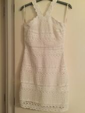 Karen Millen dentelle blanche robe bain de soleil taille 10
