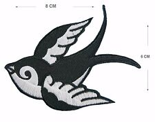 Swallow Embroidered Iron On Sew On Patches Applique swift embroidery bird badge