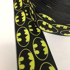 22mm Batman Grosgrain Ribbon Black And Yellow Bows Cakes