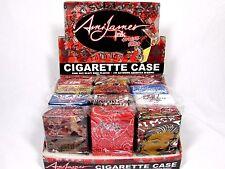 12 X Tattoo Design Auto Push Open Hinge Plastic Cigarette Case Pack Holders LOT