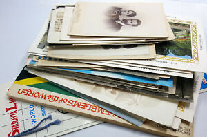 Job Lot of Antique and vintage photo, postcards and other old paper ephemera. G7