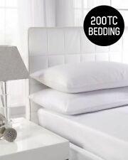 De Lujo 100% algodón sábanas bajeras Alta Calidad 200 Individual Doble King