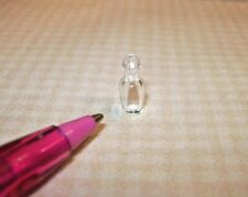 Miniature Tiny Clear Glass Perfume Bottle #2: DOLLHOUSE Miniatures 1/12 Scale