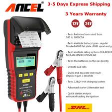 Ancel BST500 12V&24V Car Truck Battery Tester Charging System & Thermal Printer