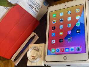 Apple iPad mini 4 (32gb) WiFi (A1538) Retina 7.9in Gold MiNT Fracture {iOS14}96%