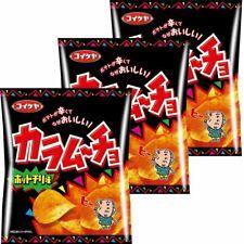 Koikeya Kalamucho Potate chips Hot chili flavor 55g × 3 pcs