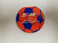 Memphis Storm 1987/88 AISA Indoor Soccer Pocket Schedule - Coca Cola
