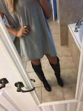5|48 Saks Fifth Ave. High Black Thigh Over Knee Boots size 9