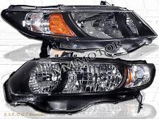 2006-2011 Honda Civic 2DR Coupe Pair Black Headlights