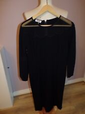 SUPERB LADIES DESIGNER MOSCHINO BLACK  SILK BLEND DRESS UK 12 RRP £249