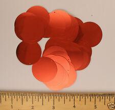 Sequins Peach 30mm Paillettes / Flat 50 pieces Loose