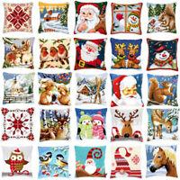 Vervaco Cross Stitch Cushion Front Kit Snowman Christmas Santa Owl Rabbit Xmas