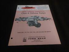 John Bean Series Parallel Centrifugal Class A Volume Pumps  Fire Fighting