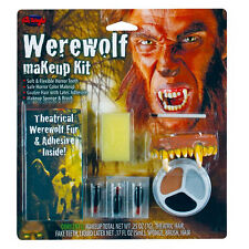 WEREWOLF Wolverine Costume Make-up Accessory Kit +Theatrical Fur Halloween FX