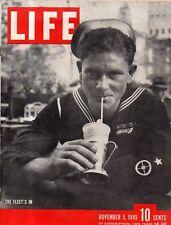 1945 Life November 5 - California Hot Rods; Chungking China; Life Photographers