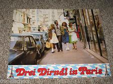 Drei Dirndl in Paris AUSHANGFOTO LOBBY CARD  Eleonore Melzer SEXY