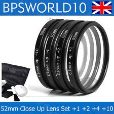 52mm Close Up Macro Lens Set For nikon d40 d60 d100 d3100 d3000 d3200 canon sony