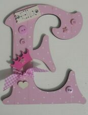 Princess Crown Personalised *ANY LETTER & NAME* kids Room Door Sign Plaque pink