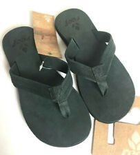 REEF Heath Leather Sandals Flip Flops Thong Gray Women's Size 5 NWT