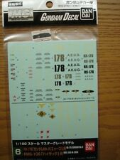 Bandai Genuine Master Grade Gundam Decal 1/100 No.6 RX-178 Mk2 & RMS-106 Gundam