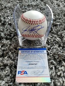 "Ivan ""Pudge"" Rodriguez Autograph Signed Baseball ROMLB Texas Rangers PSA COA"