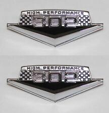 NEW! 1965 - 1966 Ford Mustang 302 V8 HiPo Fender Emblem Set High Performance