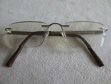 Jaeger gold rimless titanium glasses frames. MOD.301.