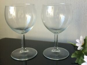 Medium Clear Red Wine Glasses Goblets PAIR Of Glassware Serving Drink Cup 200ml