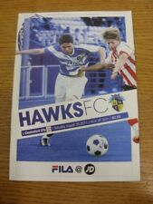 20/08/2011 Havant And Waterlooville v Chelmsford City  . Footy Progs/Bobfrankand