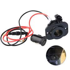 TINKSKY 12V Car Motorcycle Dual USB Adapter Cigarette Lighter Socket Power Plug